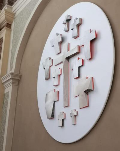 Installazioni presso la Chiesa di San Sebastiano a Palazzolo sull'Oglio
